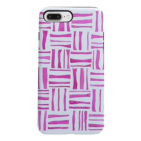 Pink Watercolor Weave iPhone 8/7 Plus Tough Case
