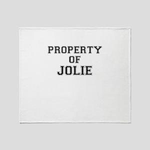 Property of JOLIE Throw Blanket