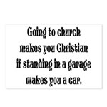 Going to church makes you Chr Postcards (Package o