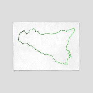 sicilian map 5'x7'Area Rug