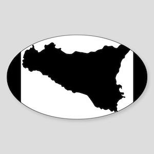 sicilian map Sticker