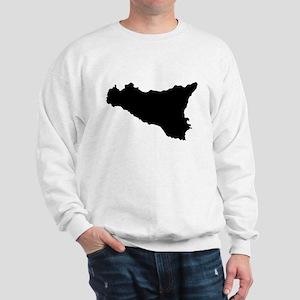 sicilian map Sweatshirt