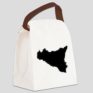 sicilian map Canvas Lunch Bag