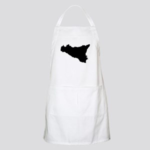 sicilian map Light Apron