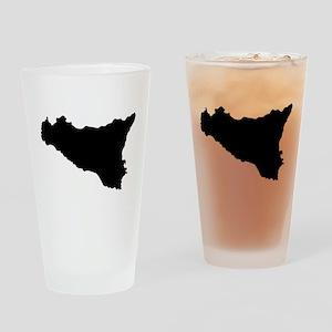 sicilian map Drinking Glass