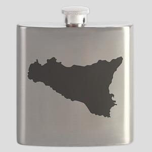 sicilian map Flask