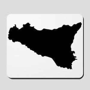 sicilian map Mousepad