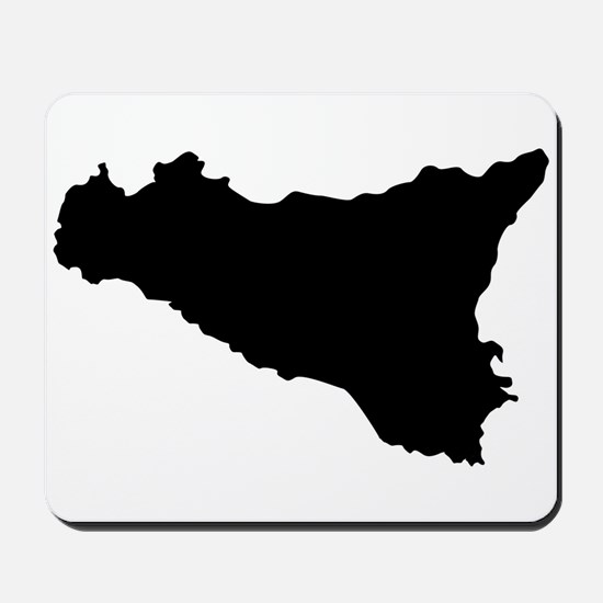 sicilian map Mousepad