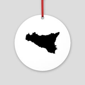 sicilian map Round Ornament