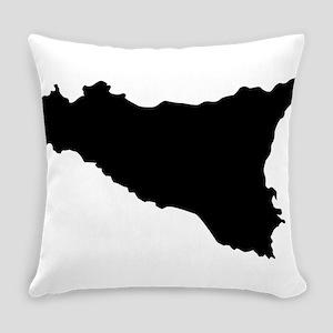 sicilian map Everyday Pillow