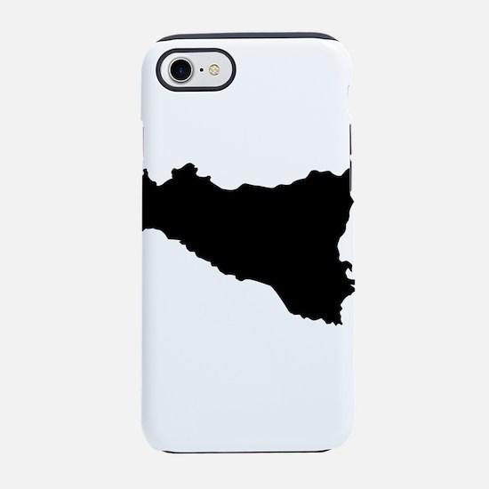 sicilian map iPhone 8/7 Tough Case