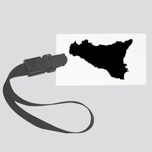sicilian map Large Luggage Tag