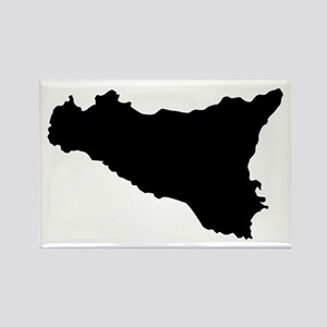sicilian map Magnets