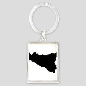 sicilian map Keychains
