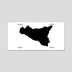 sicilian map Aluminum License Plate