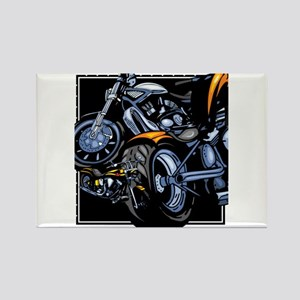 Motorcycle Collage Rectangle Magnet