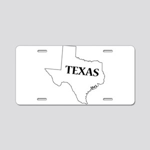 Texas State and Date Aluminum License Plate