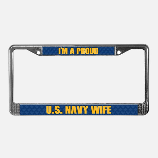 U.s. Navy Wife License Plate Frame