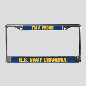 U.s. Navy Grandma License Plate Frame