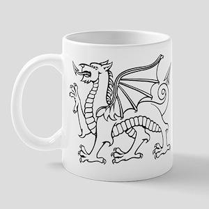 Y Ddraig Goch in Black and White Mug