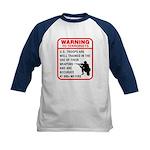 Warning To Terrorists Kids Baseball Jersey