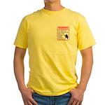 Warning To Terrorists Yellow T-Shirt