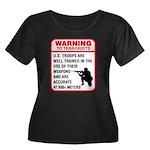 Warning To Terrorists Women's Plus Size Scoop Neck