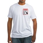Warning To Terrorists Fitted T-Shirt
