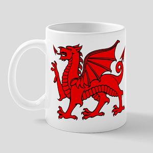 Y Ddraig Goch in Black and Red Mug