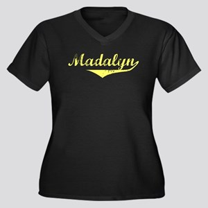 Madalyn Vintage (Gold) Women's Plus Size V-Neck Da