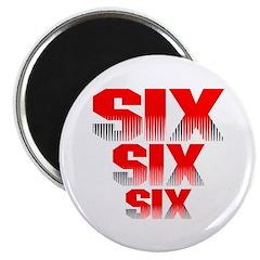 Six Six Six 666 Magnet