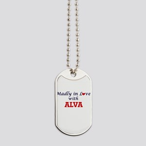 Madly in love with Alva Dog Tags