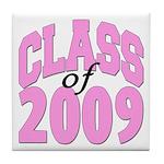 Class of 2009 ver2 Tile Coaster