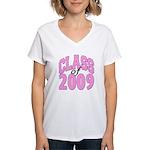 Class of 2009 ver2 Women's V-Neck T-Shirt