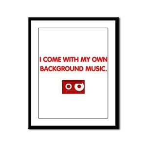 Background Music (red) Framed Panel Print
