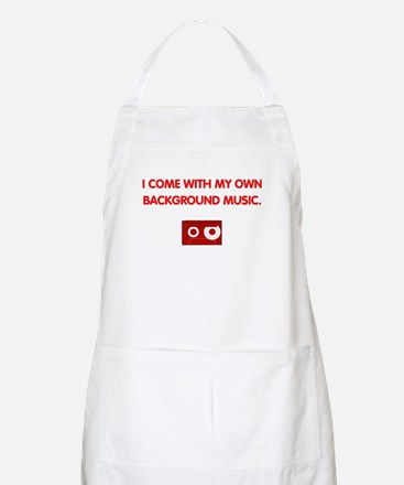 Background Music (red) BBQ Apron