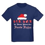 Santa Claus Rules Kids Dark T-Shirt