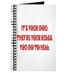 It's your god. They're your r Journal