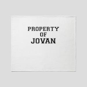 Property of JOVAN Throw Blanket
