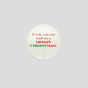 Wish me a Merry Christmas Mini Button