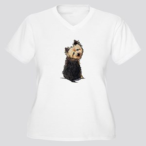 NT QT Women's Plus Size V-Neck T-Shirt