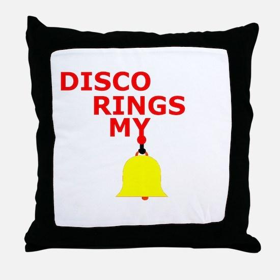 Disco (red) Throw Pillow