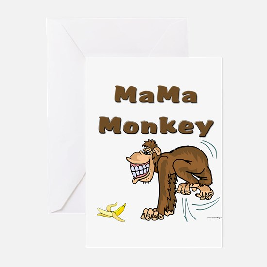 MaMa Monkey Greeting Cards (Pk of 20)
