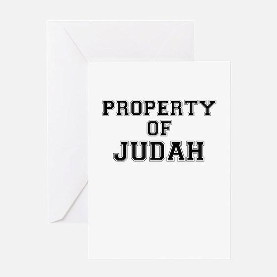 Property of JUDAH Greeting Cards