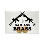 Bad Ass Brass Balls Rectangle Magnet (10 pack)