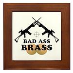 Bad Ass Brass Balls Framed Tile