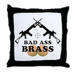 Bad Ass Brass Balls Throw Pillow