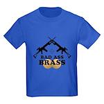 Bad Ass Brass Balls Kids Dark T-Shirt