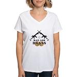 Bad Ass Brass Balls Women's V-Neck T-Shirt