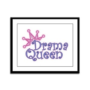 Drama Queen Framed Panel Print